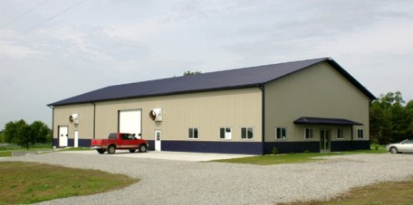 316-5 <br> Warehouse with Office Space <br> Dark Blue & Hickory Moss