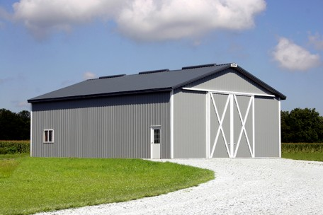 Agricultural Or Suburban Pole Barn Solution With Slider Doors