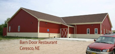 127-03 <br> Barn Door Restaurant, Ceresco NE <br> Brick Red & Ivory