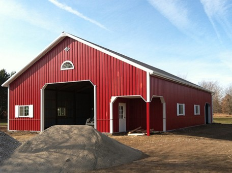 Barn Red Pole Building